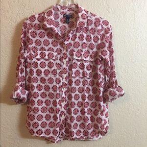 GAP Boyfriend Fit Button Down Shirt. Size XS